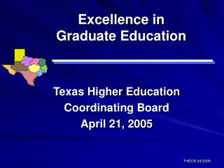Excellence in Graduate Education