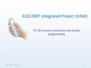 T2. Wii remote connection and simple programming