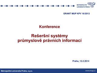 Konference Rešeršní systémy  průmyslově právních informací