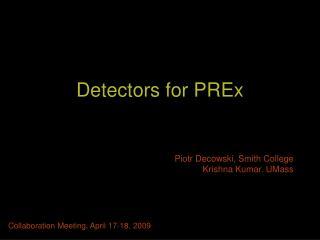 Detectors for PREx