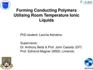 Forming Conducting Polymers Utilising Room Temperature Ionic Liquids