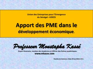 Professeur Moustapha Kassé