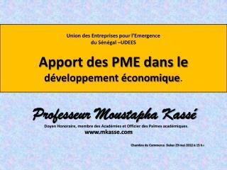 Professeur Moustapha Kassé