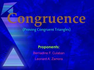 (Proving Congruent Triangles)