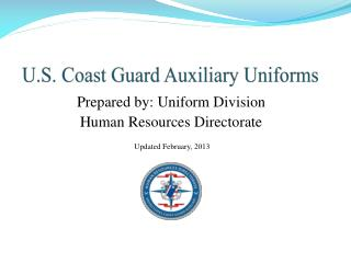 U.S. Coast Guard Auxiliary Uniforms