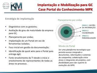 Estratégia de implantação Diagnóstico com os gestores;
