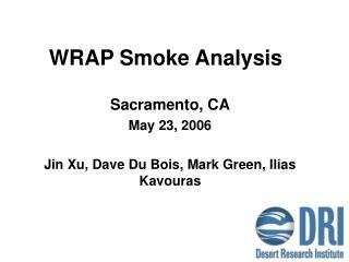 WRAP Smoke Analysis