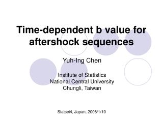 Time-dependent b value for aftershock sequences