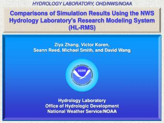 Comparisons of Simulation Results Using the NWS  Hydrology Laboratory's Research Modeling System