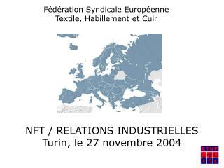 Fédération Syndicale Européenne Textile, Habillement et Cuir