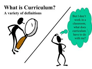 What is Curriculum?  A variety of definitions