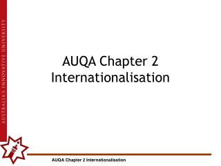 AUQA Chapter 2 Internationalisation