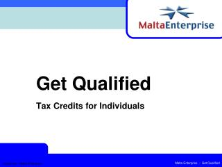 Get Qualified  Tax Credits for Individuals