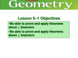 Lesson 5–1 Objectives