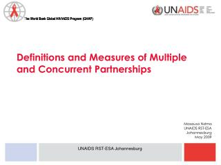 Definitions and Measures of Multiple and Concurrent Partnerships