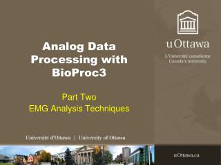 Analog Data Processing with BioProc3