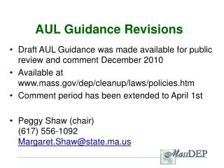 AUL Guidance Revisions
