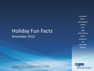 Holiday Fun Facts November 2012
