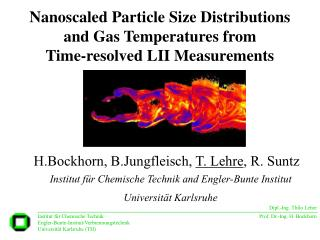 Nanoscaled Particle Size Distributions and Gas Temperatures from  Time-resolved LII Measurements