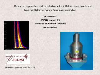 P. Schotanus SCIONIX Holland B.V. Dedicated Scintilllation Detectors scionix.nl