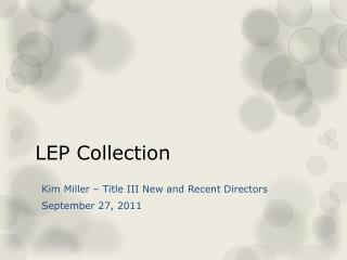 LEP Collection