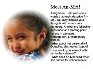 Meet An-Mei!