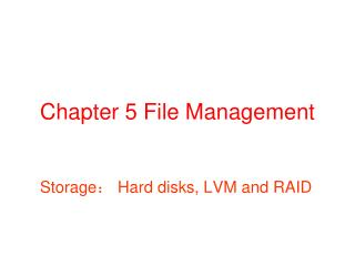 Chapter 5 File Management