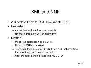 XML and NNF