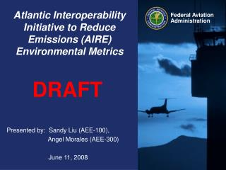 Atlantic Interoperability Initiative to Reduce Emissions (AIRE)  Environmental Metrics