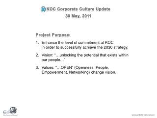 KOC Corporate Culture Update  30 May, 2011