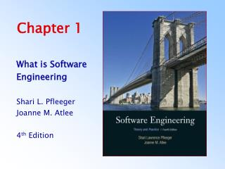 What is Software Engineering  Shari L. Pfleeger Joanne M. Atlee  4th Edition