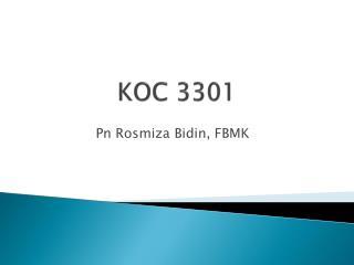 KOC 3301