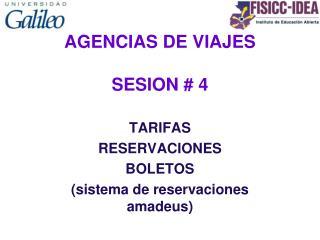 AGENCIAS DE VIAJES  SESION # 4