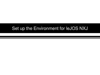 Set up the Environment for leJOS NXJ