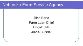 Nebraska Farm Service Agency