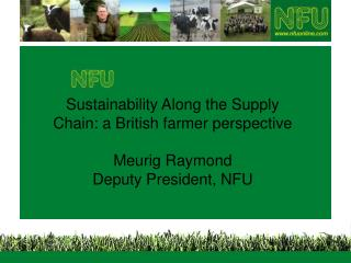 Sustainability and agriculture – a multi-faceted relation