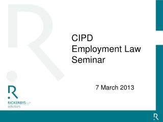 CIPD Employment Law Seminar