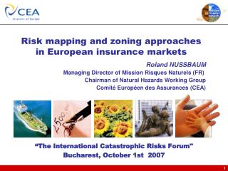 """""""The International Catastrophic Risks Forum"""