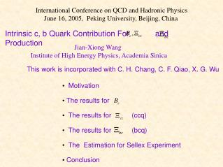 Intrinsic c, b Quark Contribution For            and         Production