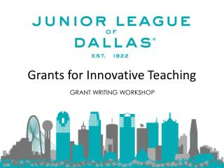 Grants for Innovative Teaching