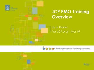 JCP PMO Training Overview