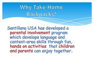Why Take-Home Backpacks?