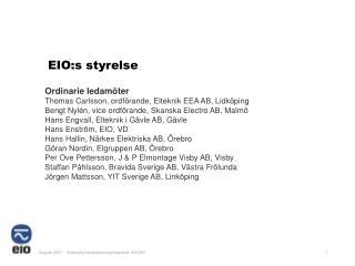 EIO:s styrelse