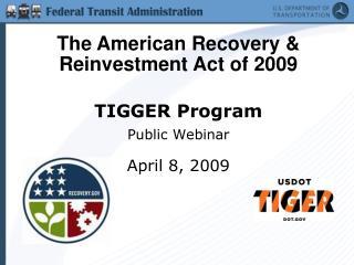 TIGGER Program Public Webinar  April 8, 2009
