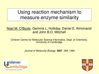 Using reaction mechanism to measure enzyme similarity