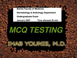 MCQ TESTING