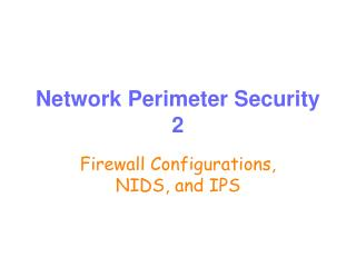 Network Perimeter Security 2