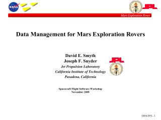 Data Management for Mars Exploration Rovers