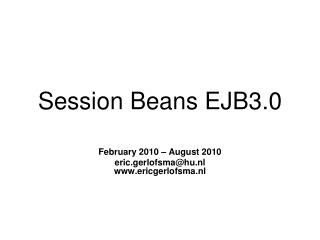 Session Beans EJB3.0