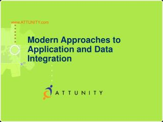 Modern Approaches to  Application and Data Integration